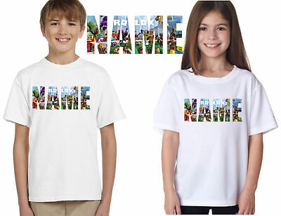 Personalised Roblox Unisex T-Shirt,add Your Name Gamers Boys Girls Kids Tee Top