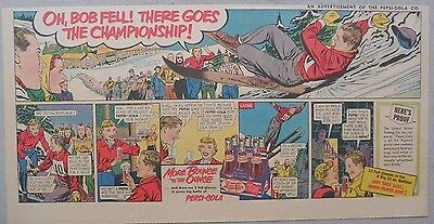 Pepsi-Cola Ad: Ski Jumping Contest ! from 1940's  7.5 x 15 inches