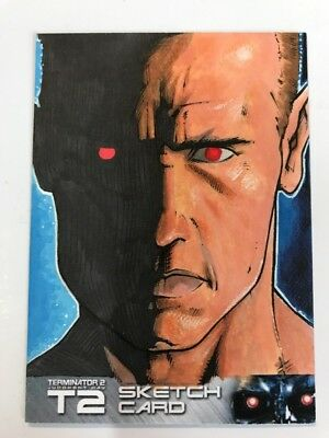 2017 Terminator T2 Trading Cards Sketch Card By W B White