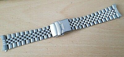 Seiko 22Mm Divers Jubilee Stainless Steel Watch Strap / Band Curved End (Se-11)