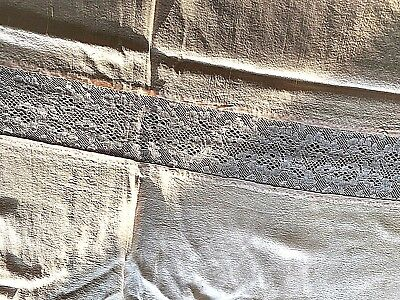 2 Silk and Lace Antique bedspreads or cloths Linens and Textiles Pre 1930's