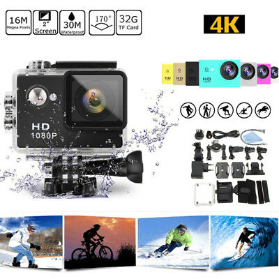 HD 4K 1080P Helmet Waterproof Ultra Sport Action Camera DV Video Gopro Camcorder