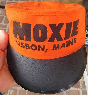 Vintage MOXIE Soda HAT, Lisbon MAINE Painter's Cap - Cola, Soft Drink, One Size