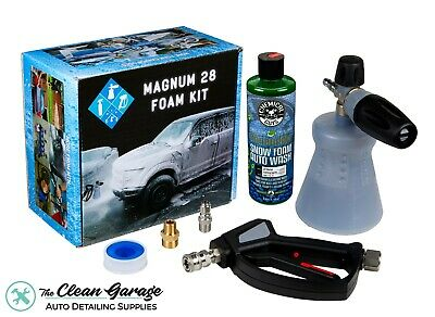 MTM PF22 Foam Cannon Combo Stainless Swivel Gun 16oz Chemical Guys HoneyDew Soap