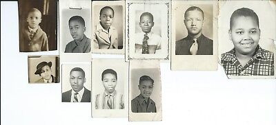 Lot 10 African American Males ~ School Photos