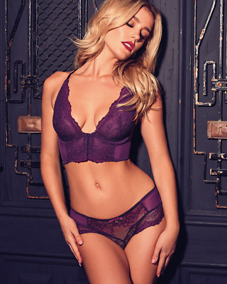b007927514b07 GOSSARD SUPERBOOST LACE Purple Deep V Bralet 7718 - £24.99