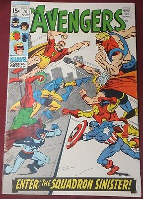 **the Avengers #70**(1963 Series, Marvel)**1St App Of Squadron Supreme**vg**hot