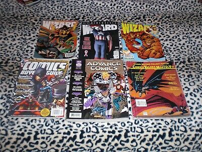 Comic Price Guides Wizard - Advance - Comics Buyer Guide  1994 - 2009  Lot Of 6