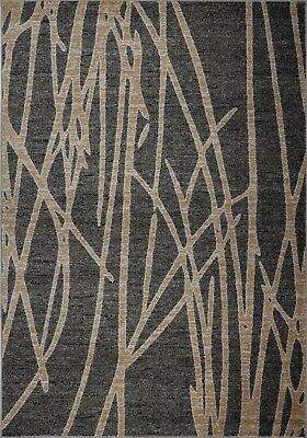 Area Rugs Abstract Grey Gold Carpet Rugs 4x6  5x8  Hallway Runners