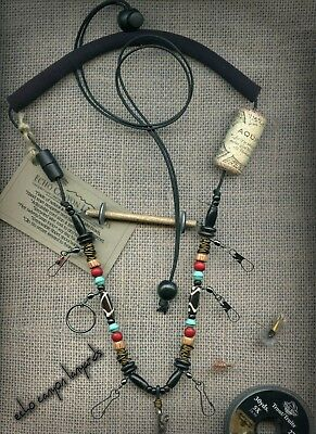 Fly Fishing Lanyard-Handcrafted w/Tippet Holder, Buffalo Horn, and Natrual Beads