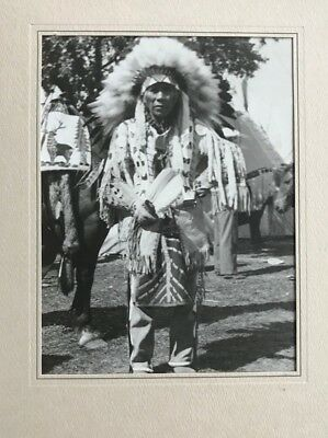 1930's Large Silver Gelatin Photograph Native American Indian Chief Wallahee