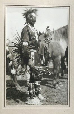 1930's Large Silver Gelatin Photograph Native American Indian @ Ellensburg Rodeo