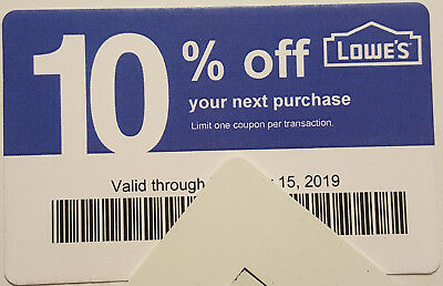 Twenty (20) LOWES Coup0ns 10% OFF At Competitors ONLY not Lowes Exp Sep 15 2019