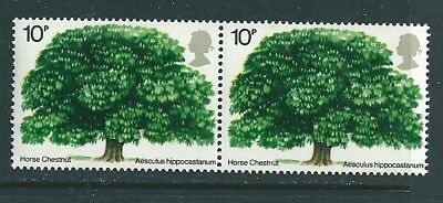 1974 - GB Trees Horse Chestnut Tree Stamp in Pair MNH  SG949