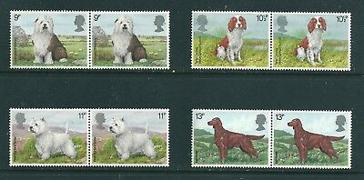 1979 - GB Dogs Set of 4 Commemorative Stamps in Pairs SG1075/78 MNH