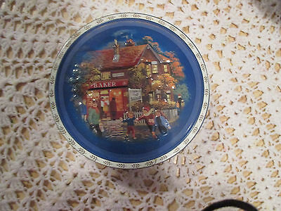 """10--  BISCUIT  TIN   7  1/2  """"  x  1  1/4     """"  High  ---IN  GOOD ORDER"""
