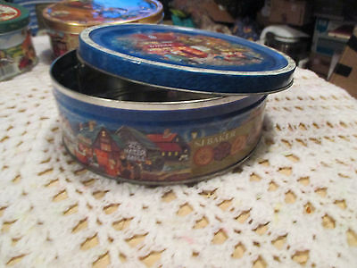 """11--  BISCUIT  TIN   7  1/2  """"  x  2  1/2     """"  High  ---IN  GOOD ORDER"""