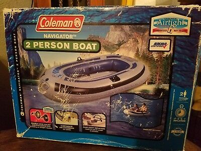 COLEMAN INFLATABLE 2 Person Navigator Boat NEW - $49 99