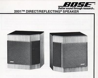 BRAND NEW BOSE 2001 Direct Reflecting Club 1 Pair Home Entertainment Speakers