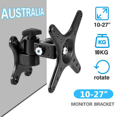 """10-27"""" LCD LED TV Monitor Wall Mount VESA Bracket Stand with Swivel Arms & Tilt"""