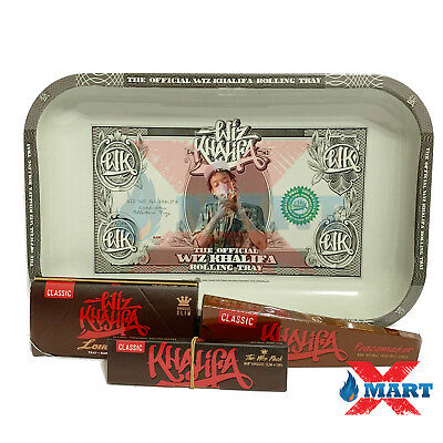 RAW Wiz Khalifa Classic King Slim Rolling Paper Tray Collectors Bundle - 4 Items