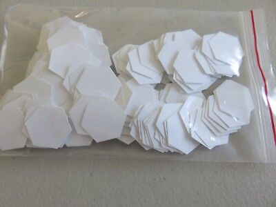 1/2 Inch Paper Hexagons x 150 (made with card) - New - AUS Seller - Free Postage