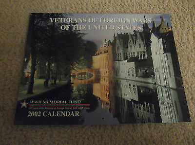 2002  Veterans Of Foreign Wars Calendar - Excellent Condition.