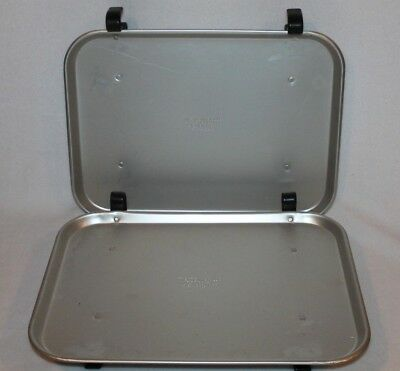 PAIR OF Vtg Retro Aluminum Carhop Drive In Car Window Service Food Tray