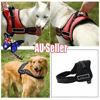 Control Large Dog Pulling Harness Adjustable Support Pet Pitbull Training FO
