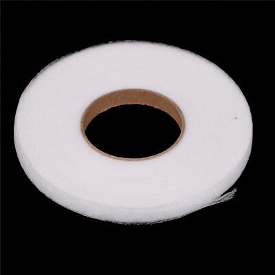 70Yards White Double Sided Fusible Sewing Fabric Buckram Glue Tape DIY Cloth Pip