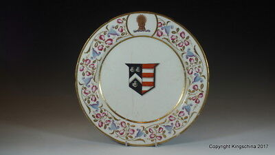Coalport Armorial Plate MITCHELL imp PUSEY 1820 Coat Arms Family Crest