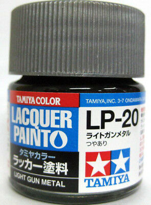 TAMIYA COLOR LACQUER LP-20 Light Gun Metal PLASTIC MODEL KIT PAINT 10ml NEW