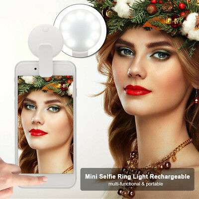 Selfie Portable LED Ring Fill Light Camera Photography For IPhone Android Q5S9