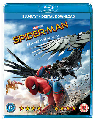 Spider-man Homecoming Blu-ray Region 2 DVD 2017