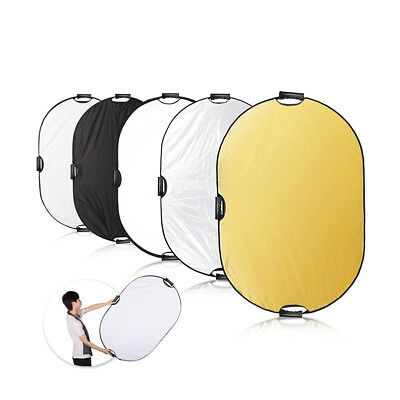 Photography 5 in1 Light Collapsible Portable Photo Reflector 90x120cm Diffuser L