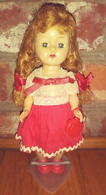 1950s Vogue GINNY DOLL REDHEAD BRAIDS STRUNG DRESS PURSE SHOES VINTAGE
