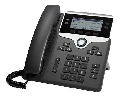 New  Cisco 7841 Ip Phone Black,Silver Wired Handset Lcd 4 Lines CP-7841-K9=