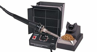 New  Altronics 60W Soldering Iron + Fume Extractor 240V - Metal BT2444A
