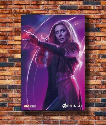 Art Avengers Infinity War Scarlet Witch DC -20x30 24x36in Poster - Hot Gift C267