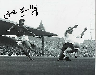 JOHN CONNELLY Signed 10x8 Photo BURNLEY & ENGLAND 1966 Proof COA
