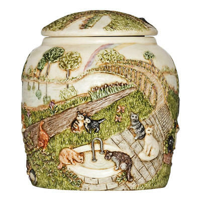 Perfect Memorials Cat Rainbow Bridge III Pet Cremation Urn