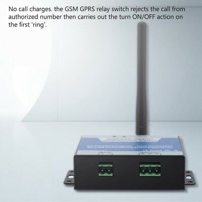 GSM Gate Opener Relay Switch Free SMS Phone Wireless Remote Control Door Access