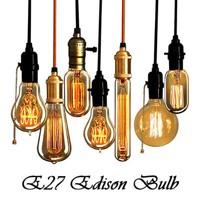 Retro E27 Filament Bulb 40W Edison Light Bulb Industrial Vintage Lamps 220-240V