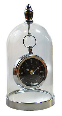 Table Clock Bell Fireplace Year Domuhr Dom Glass Drehpendeluhr New