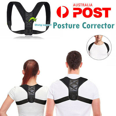 Best Posture Corrector Body Wellness Adjustable Back Shoulder Belt Pain Brace AU