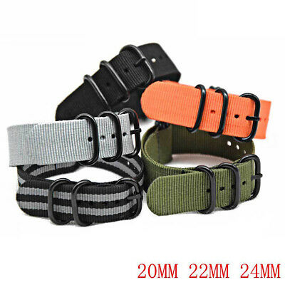 20mm 22mm 24mm Unisex Fabric Woven Watchband Nylon Watch Strap Wristwatch