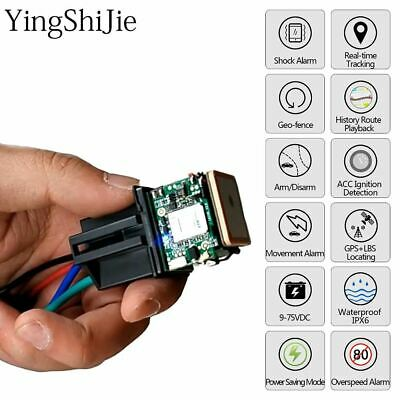 Car Tracking Relay GPS Tracker Device GSM Locator Remote Control