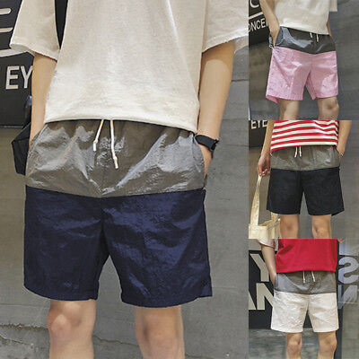 AU Men Casual Summer Baggy Shorts Sport Surf Drawstring Beach Pants Trousers New