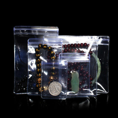 Anti-oxidation Plastic Zip Lock Bags PVC Clear Jewelry Jade Pearl Seal Pouches