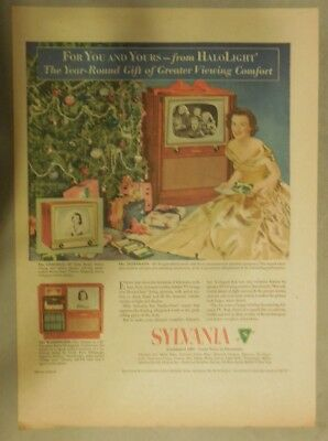 """Sylvania TV Ad: For You and Yours from """"Halolight"""" Best Television from 1951"""